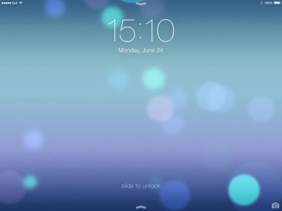 tela slide iOS