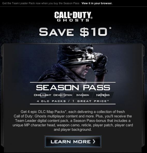 Call of Duty Ghost mapas