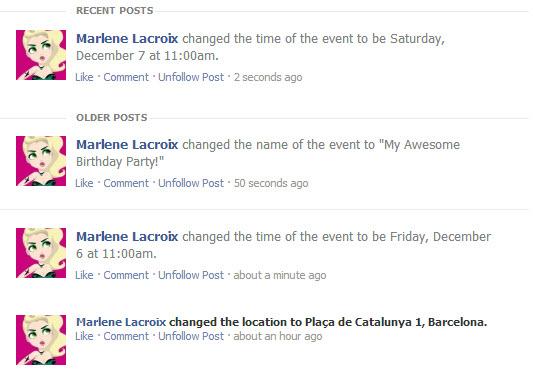 Créer des événements sur Facebook : évitez les changements