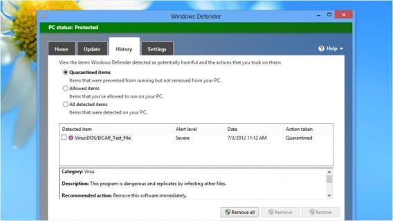 Avec Windows 8, et pour la première fois de l'histoire, Microsoft a inclus un antivirus à Windows