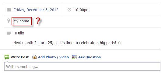 Créer des événements sur Facebook : indiquer des informations précises