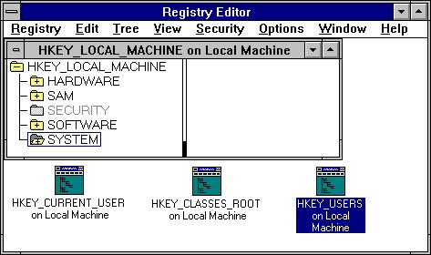 Le Registre de Windows est apparu avec Windows 3.1 et est devenu populaire sous Windows 95