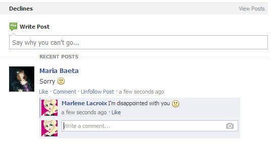 Créer des événements sur Facebook : en cas de refus