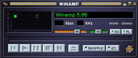 Interface clássica do Winamp