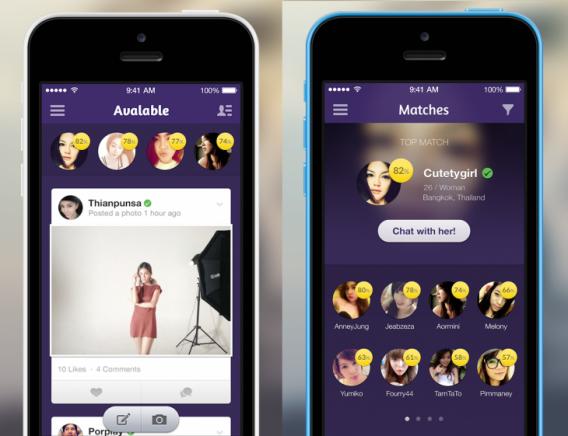 La prometteuse application Avalable se présente comme un « Facebook pour les célibataires »