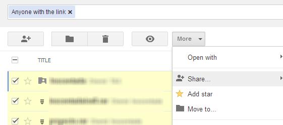 Privacidade de arquivos compartilhados no Google Drive