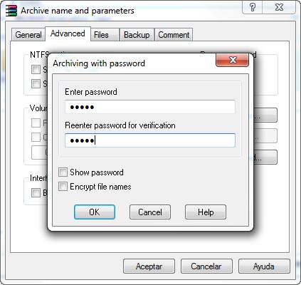 WinRar permite proteger arquivos com senhas