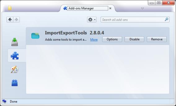 Import files using Mozilla Thunderbird