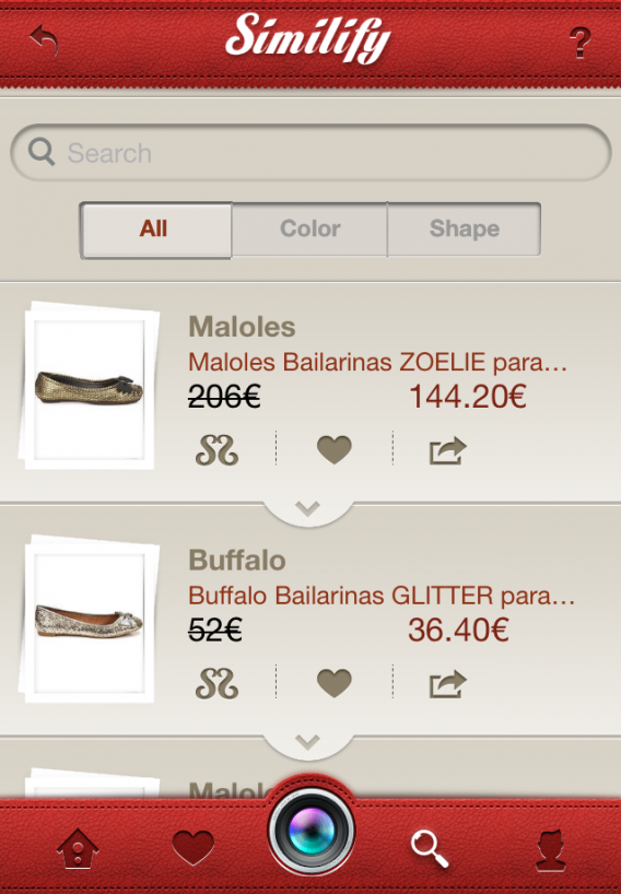 Go shoe shopping with Similify