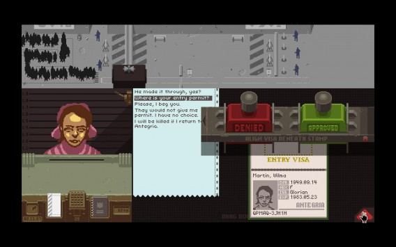 Papers, Please puts you in control of the border