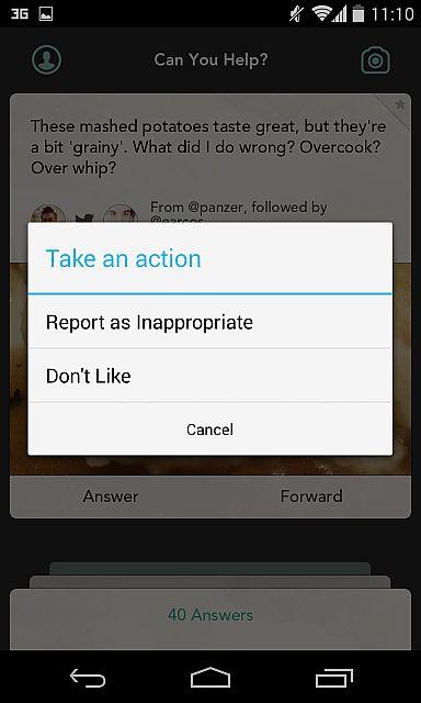 O Jelly permite denunciar imagens ou temas ofensivo