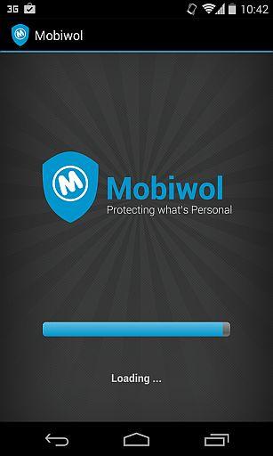 Tela de carregamento do Mobiwol
