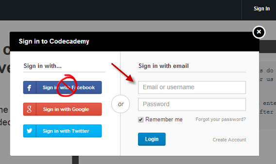 Create a new username and password for other accounts