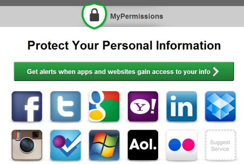 MyPermissions exibe autorizações requisitadas por sites
