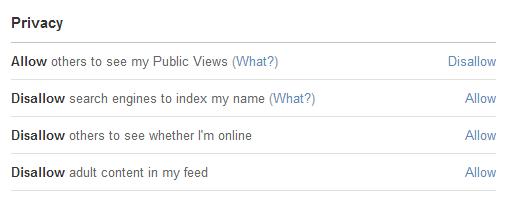 Existem muitas opções de privacidade à escolha