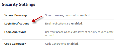 Get notifications in case people try logging into your profile
