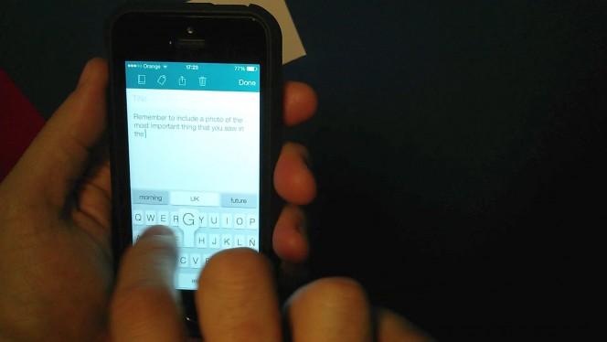 Prueba: teclado normal vs. texto predictivo en iOS con SwiftKey Note