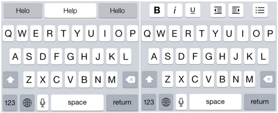 Layout de teclas do SwiftKey Note