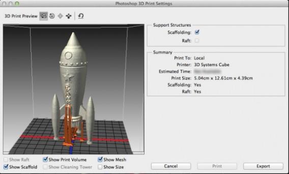 Photoshop CC 3D Printing