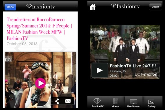 Tela do FashionTV