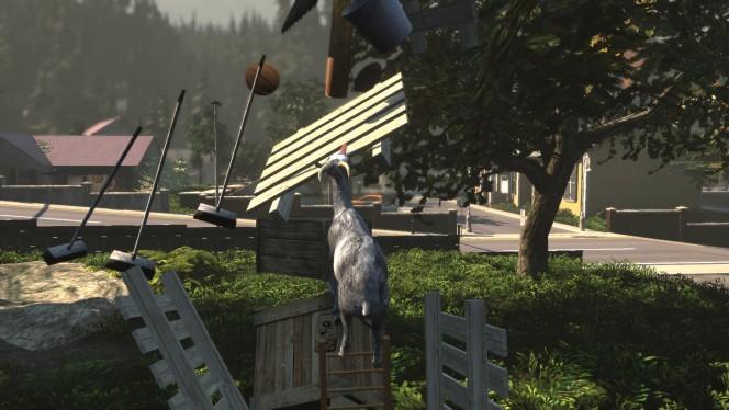 Goat Simulator es un juego que te cuestiona: ¿puedes vivir como una cabra?