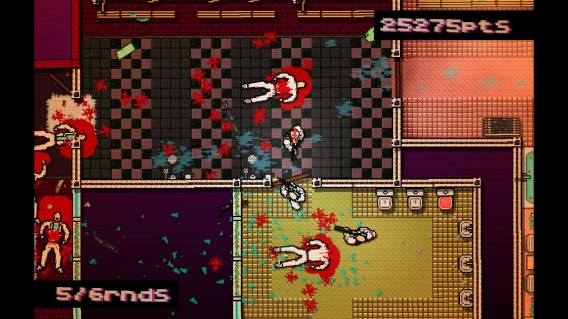 Road carnage with Hotline Miami