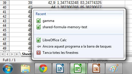 Aplicativos do LibreOffice se integram à lista de atalhos, mostrando por exemplo os últimos documentos abertos