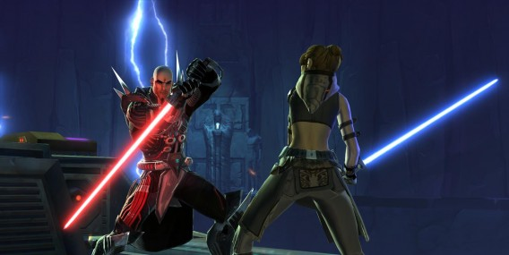 Star Wars The Old Republic: yup, there are lightsabers!