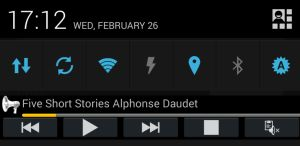 Voice Aloud Reader s'intègre au centre de notifications d'Android