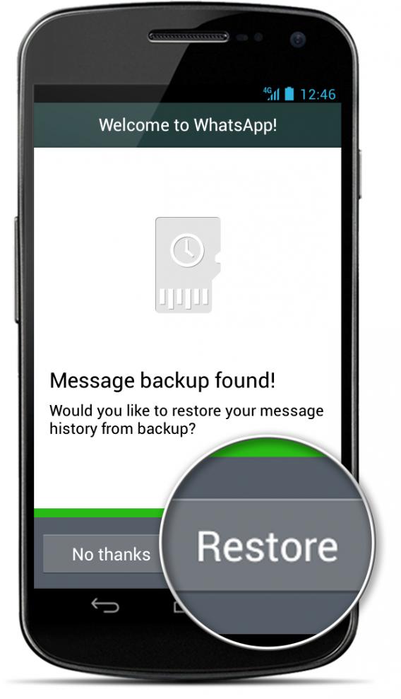 O WhatsApp identifica se há um backup de conversas