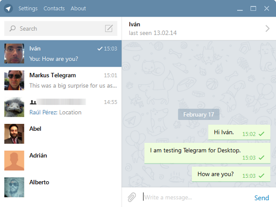 Telegram desktop version