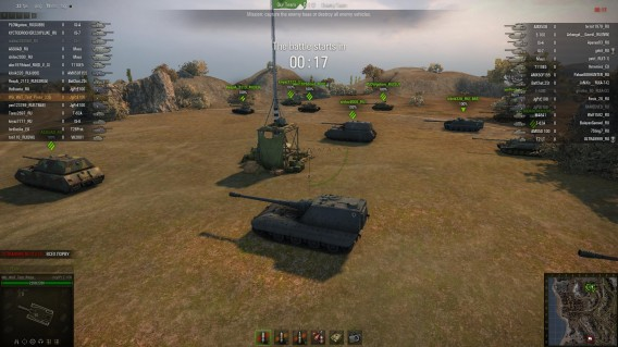 World of Tanks takes place on a large scale