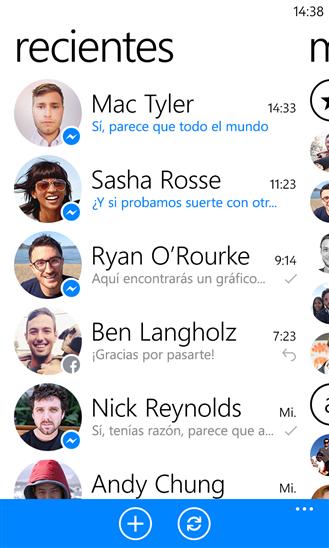 F descargar facebook chat