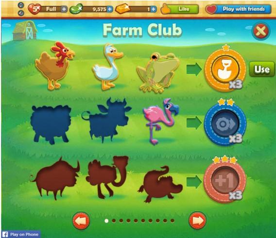 Usando o Farm Club