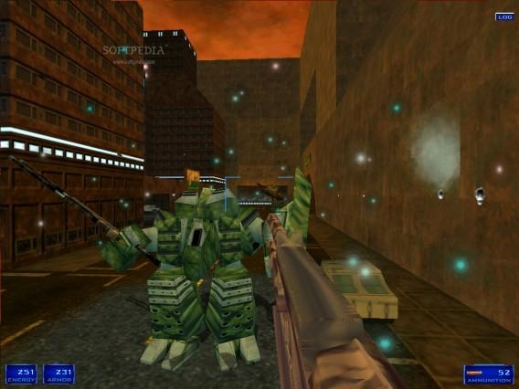 Imagem de Shogo, game que intercalava ação em robôs e humanos