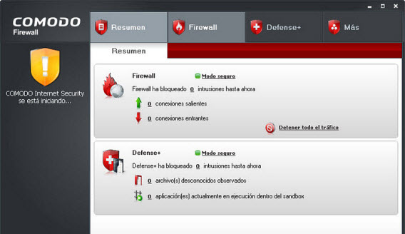 Comodo Firewall na Windows XP