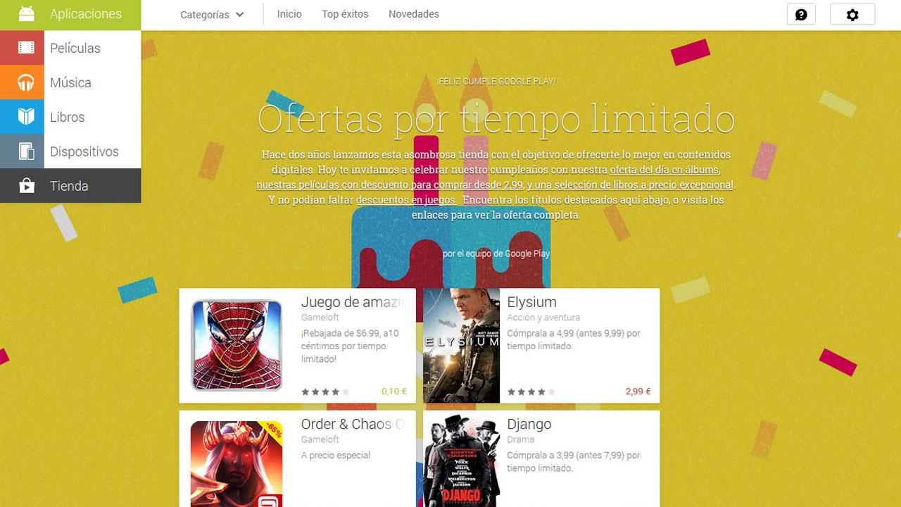 Google Play celebra su aniversario con descuentos en varios juegos (FIFA 14, Asphalt 8, Spiderman…)