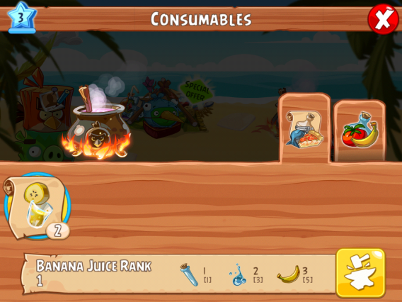 Angry Birds Epic: consumables