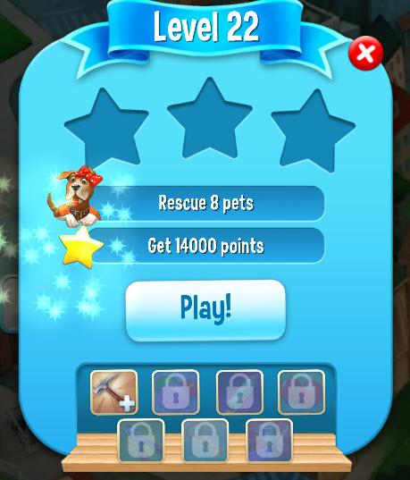 Lista de objetivos em Pet Rescue Saga