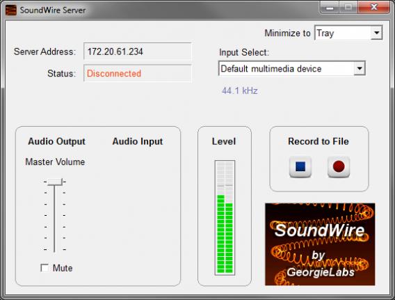 Barras de som se movem quando a configuração está correta