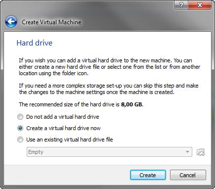 Virtuelle Festplatte erstellen