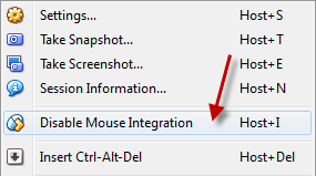 Disable Mouse Integration