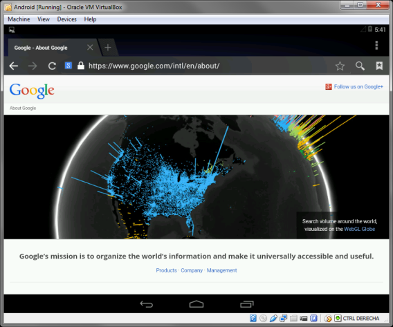 Browser Android x86