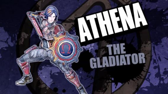 Athena, the gladiator