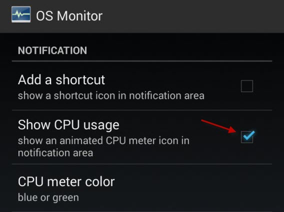 OS Monitor Show CPU Usage