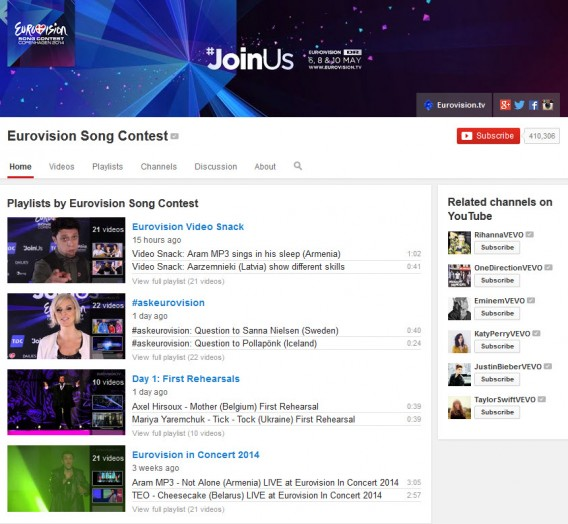 Eurowizja YouTube