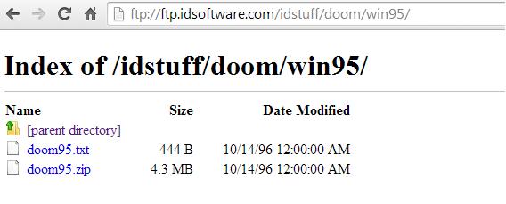 Diretório FTP do Doom