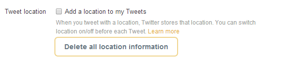 Twitter geolocation