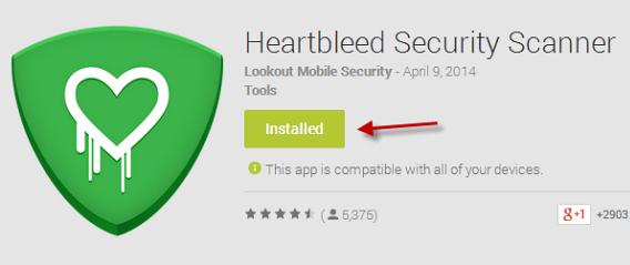 Heartbleed Security Scanner no Google Play Store