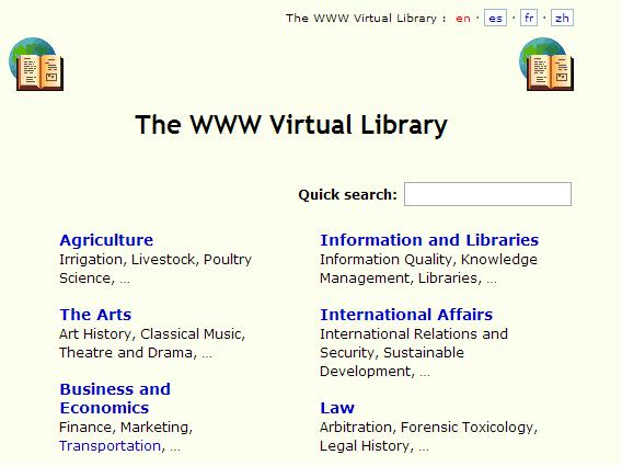 Diretório mais antigo da internet, criado por Tim Berners-Lee